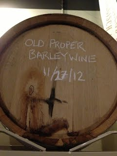 Old Proper Barleywine in a Woodinville Whiskey Barrel!